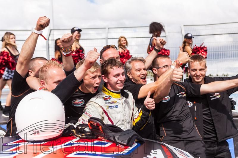 Tours, France, Denis Dupont after winning the Nascar Whelen Euro Series Tours